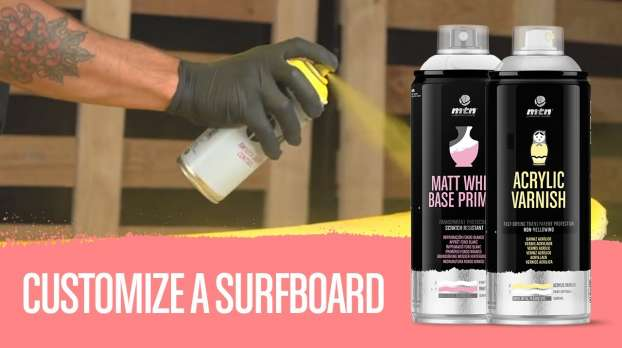 How to paint and varnish a surf board with Montana Colors