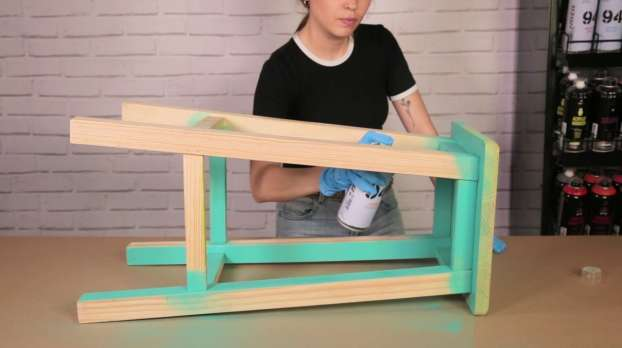 How to strip the paint off a stool with MTN PRO Paint Stripper
